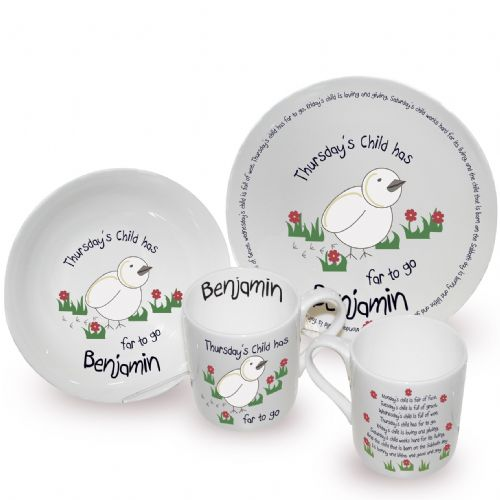 Personalised Thursdays Child Breakfast Set